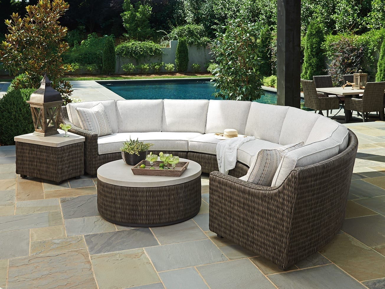 Outstanding Cypress Point Ocean Terrace Curved Sectional Right Arm Facing Sofa Short Links Chair Design For Home Short Linksinfo